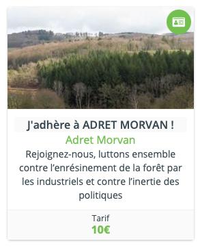 J'adhère à Adret Morvan